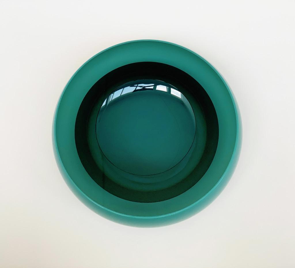 2021 Blown, cut and polished glass Ø29,5 x 12 cm Unique piece