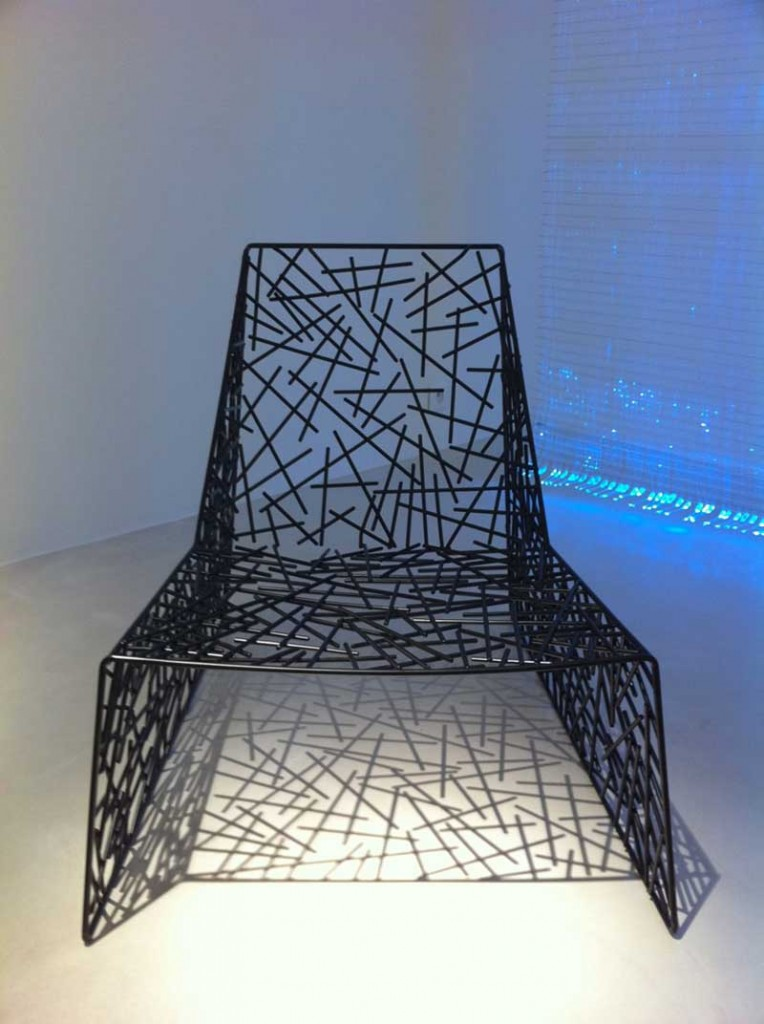 2006  Easy chair  Lacquered metal  88 x 70 74/35 cm  Limited edition of 30 ex. signed by the artist