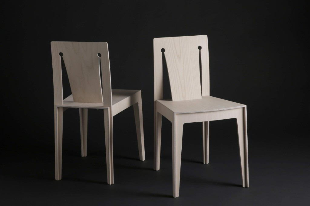2013 White ash and birch plywood 16 1/2 × 18 9/10 × 29 9/10 in 42 × 48 × 76 (h) cm Limited edition of 20 pieces