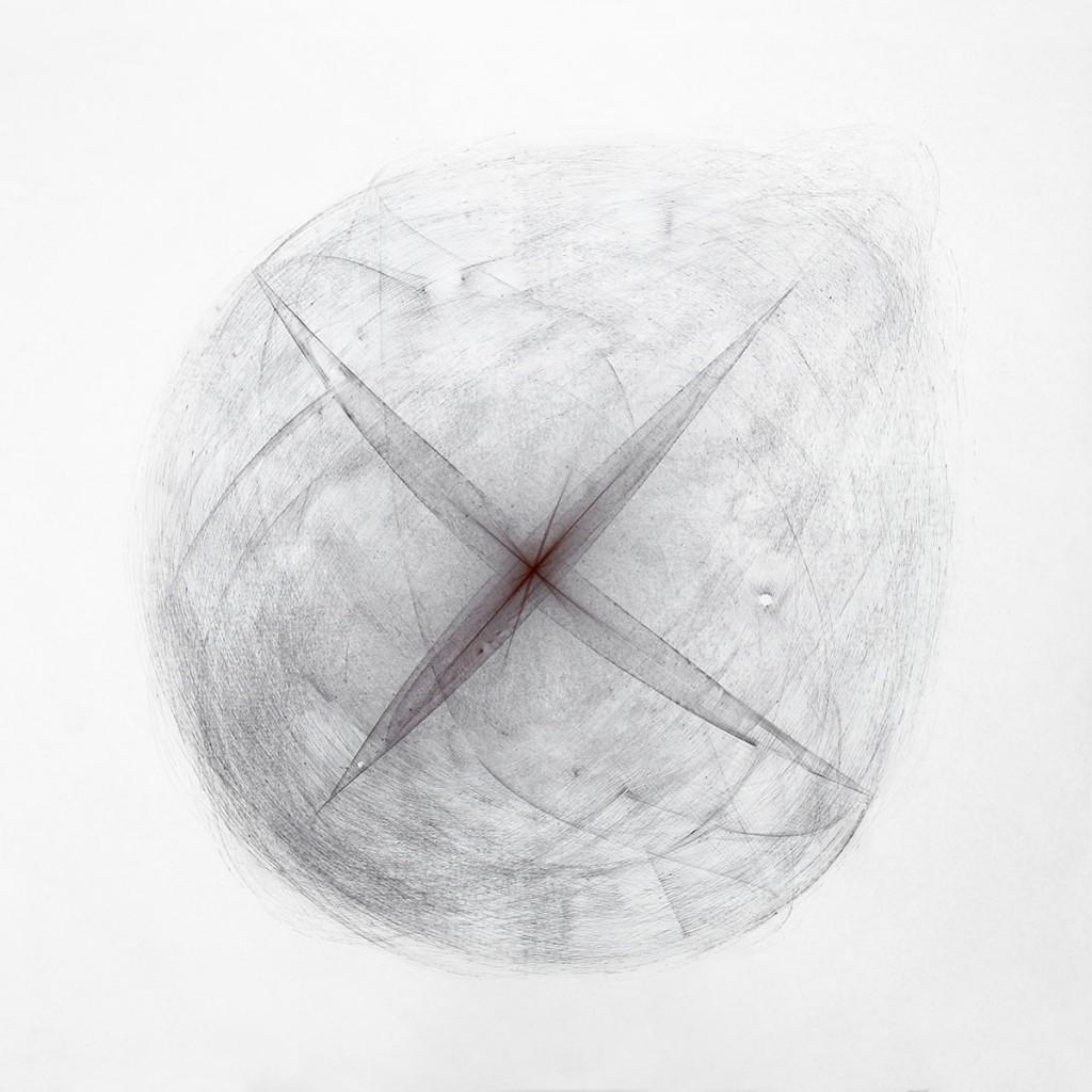 2013 Black Drawing 240 x 240 cm Unique piece