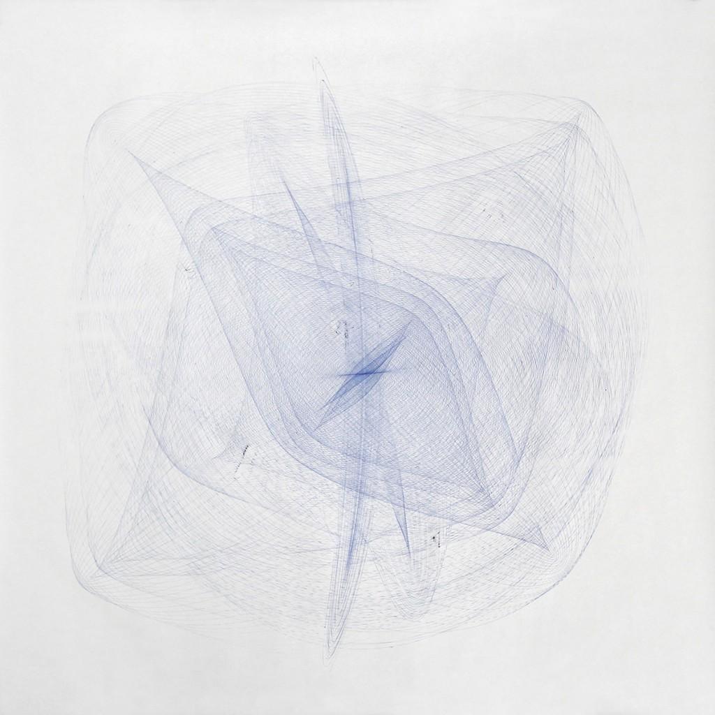 2014 Blue  147 x 147 cm Unique piece