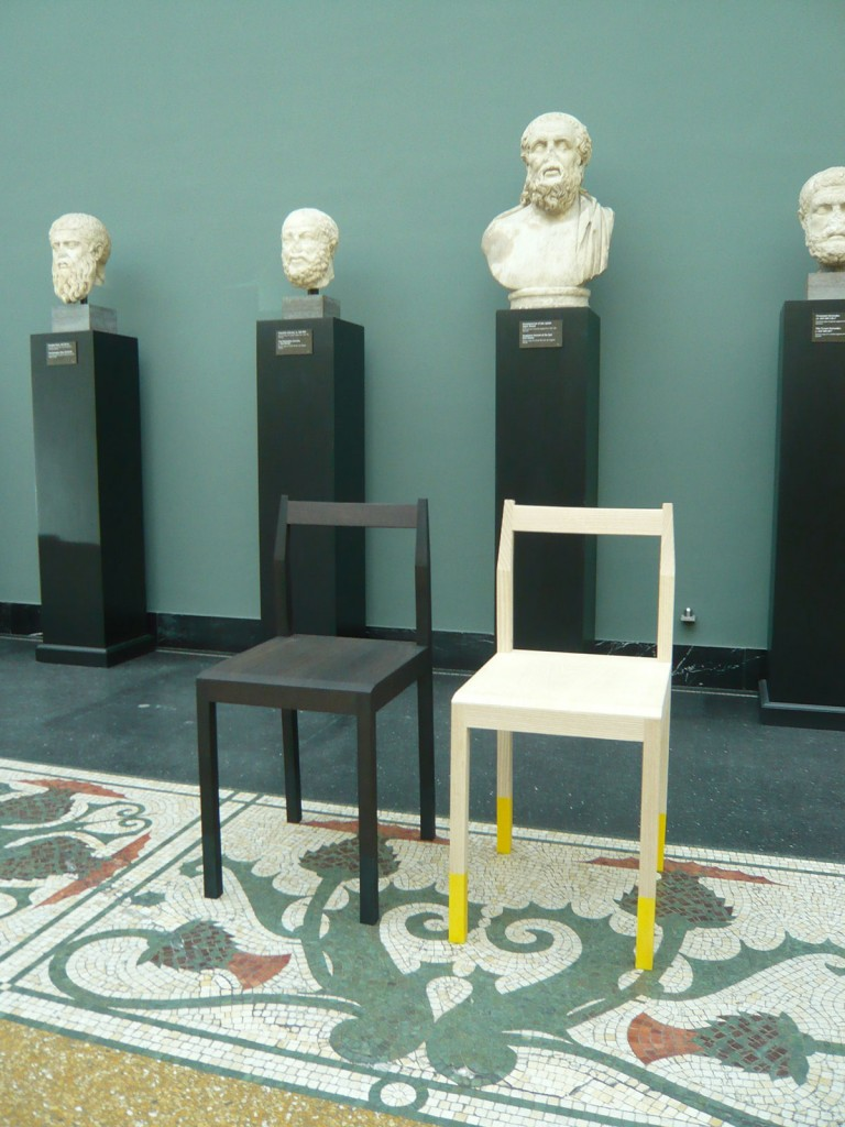 2009  Chair; ash; rubber 70 x 50 x 40 cm  Made by master cabinet maker Kjeldtoft Snedkerier  Limited edition of 20 pieces in ash