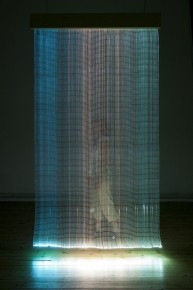 2012  Optic fiber tapestry  285 x 160 x 18 cm  Unique piece