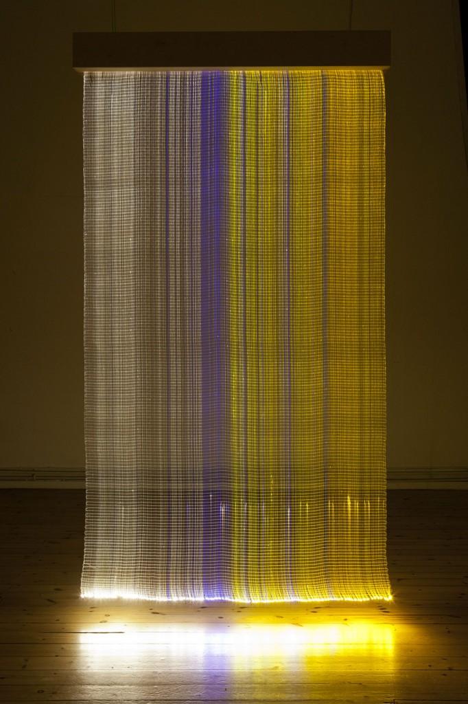 2012  Optic fiber tapestry  285 x 160 x 18 cm  Unique piece