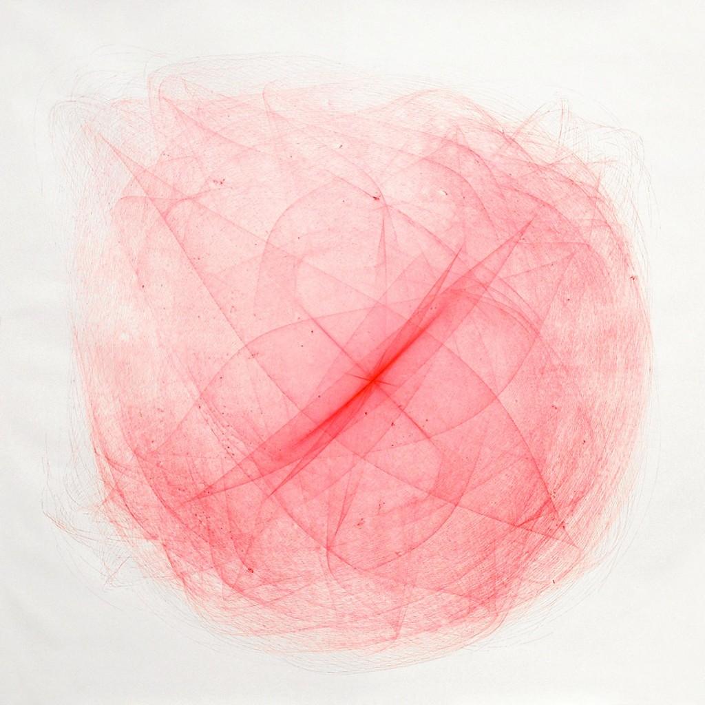 2010 Red Drawing  260 x 260 cm  Unique piece