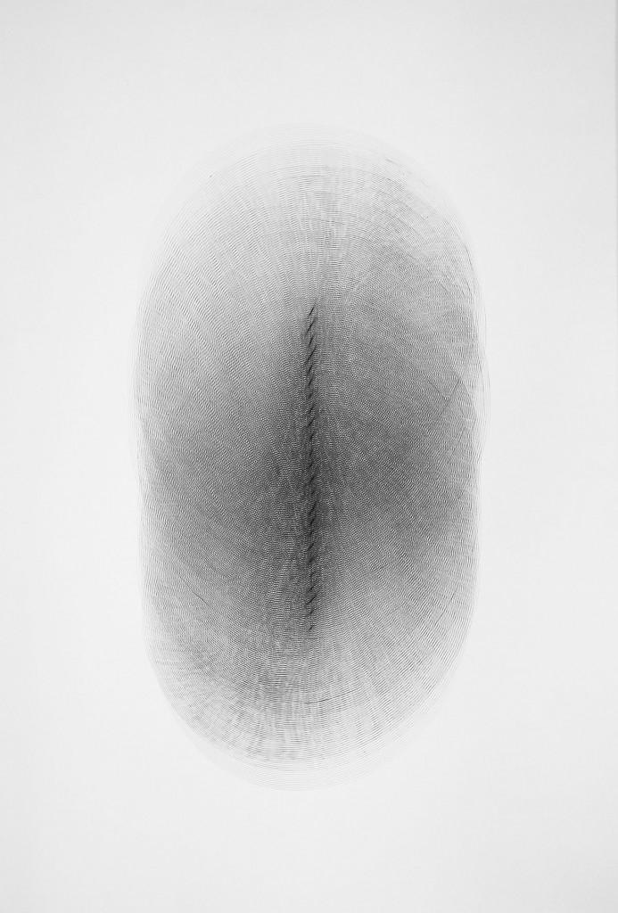 2013 Untitled (Lige-linje) 95 x 130 cm Unique piece