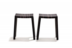 2007  Pair of stools  Stained oak and plastic string  34 x 17 x 48 (h) cm  Limited edition of 20 ex. signed by the artist
