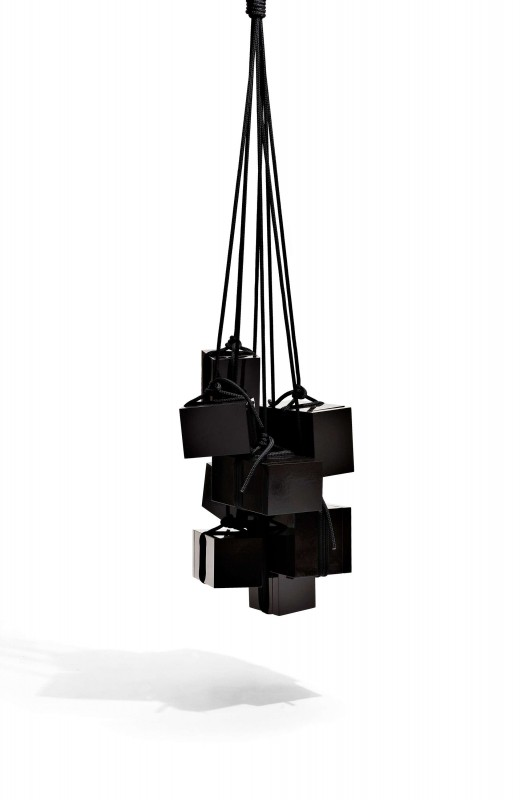 2008  Hanging cabinet  Lacquered MDF wood and rope  Ca 70 x 70 x 85 (+ropes)  Limited edition of 20 ex. signed by the artist