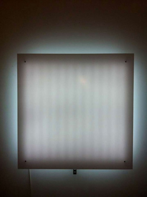 2009  Plexiglass, LED  100 x 100 x 10 cm  Limited edition of 8 (+ 2 prototypes + 2 A.P.)