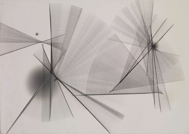 1963  Unique silver print photogram  138 x 98 cm