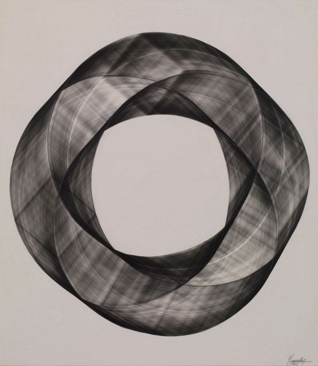1963  Unique silver print photogram  60 x 52 cm