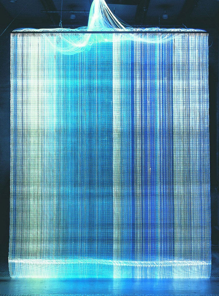 2002  Tapestry  Optic fibres  330 x 250 cm  Unique piece made for the exhibition Tapestries at the Museum of Decorative Arts Copenhagen