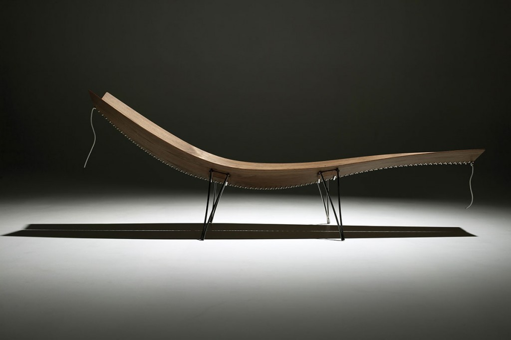 2004  Walnut, steel and rope  190 x 60 cm  Limited edition of 8 + 2 E.A. + 2 prototypes