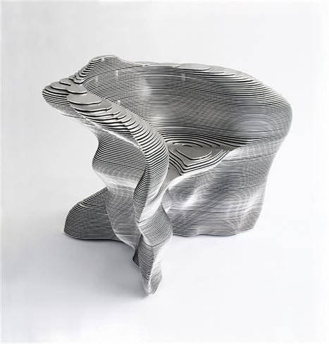 1999  Easy chair  Aluminium  89 x 75 x 75 (h)  Limited edition of 20 ex. signed by the artist