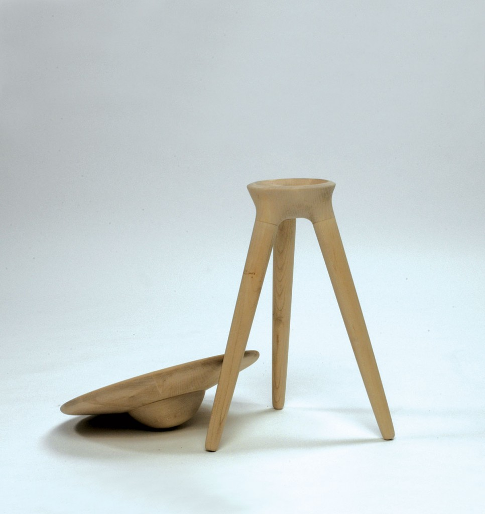 2004  Stool with loose movable seat  Solid maple  Diameter 38 cm H 50 cm  Limited edition of 10