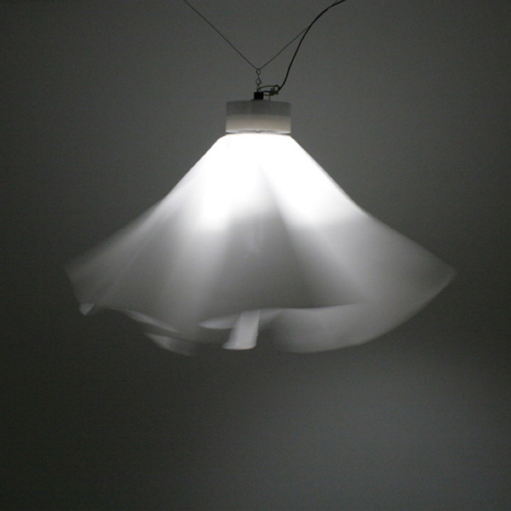 Pendant 2008  Fabric, LED, aluminium  Ca 120 x 80 cm  Limited edition of 8 (+ 2 prototypes + 2 A.P.)