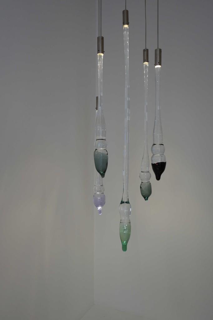 2010 Solid glass, LED, metal Various dimensions Unique pieces
