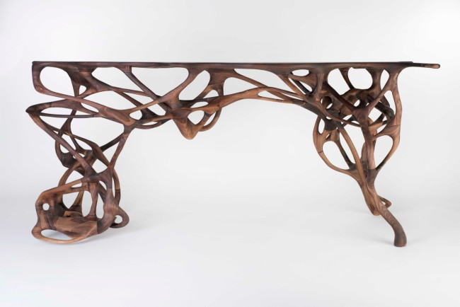 2014 Solid walnut (L)163 x (W) 66 x (H) 76 cm Limited edition of 8 unique pieces (+ 4 A.P.)