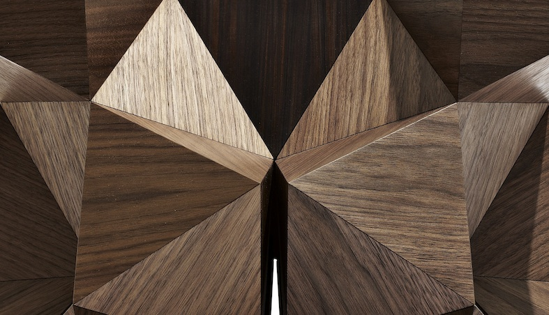 Detail 2015 American Walnut and Santos Rosewood 55 x 55 x 46(h) cm  Limited editions of 8 + 2 AP  Handmade by the artist