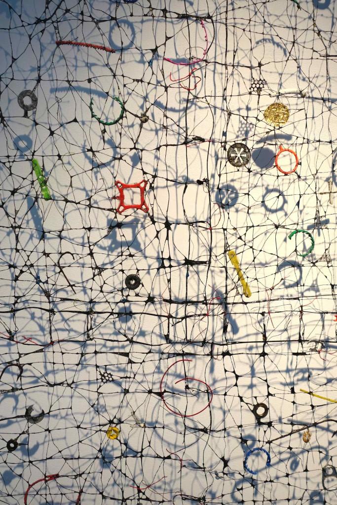 2006 78 x 107 cm Linen thread crochet, paper mache, found objects Unique piece