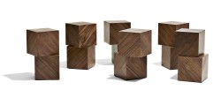 2015 American Walnut, Magnets Table 70 x 57 x 42(h) cm  One cube 21 x 21 x 21 cm Limited editions of 8 + 2 AP  Handmade by the artist
