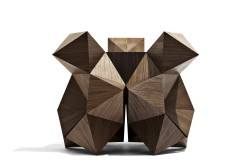 2015 American Walnut and Santos Rosewood 55 x 55 x 46(h) cm  Limited editions of 8 + 2 AP  Handmade by the artist
