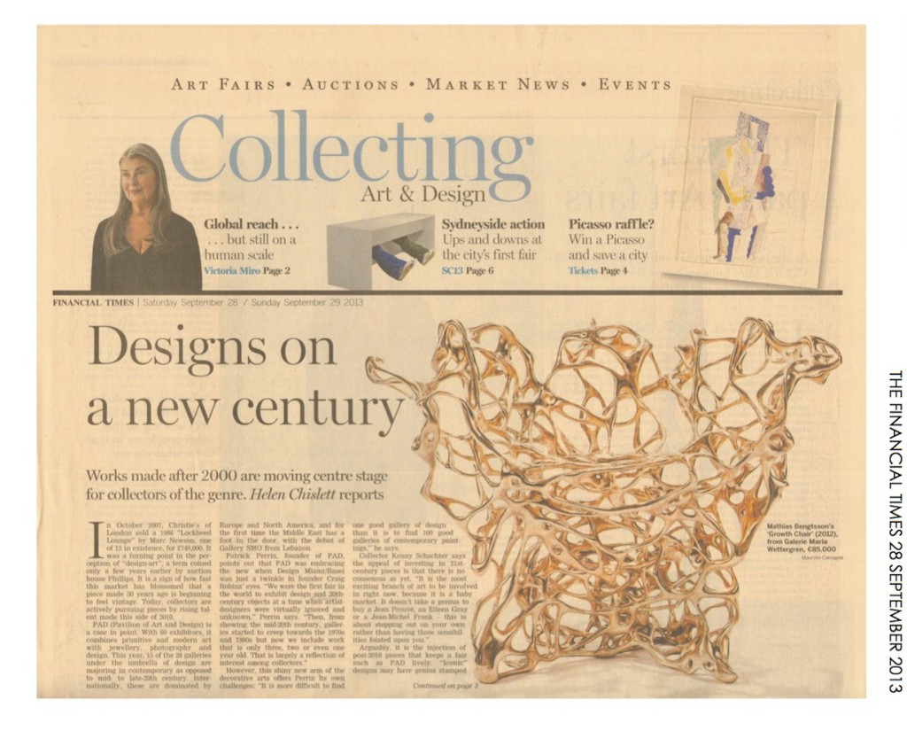 THE FINANCIAL TIMES 28 SEPTEMBER 2013  CONTEMPORARY  DESIGN