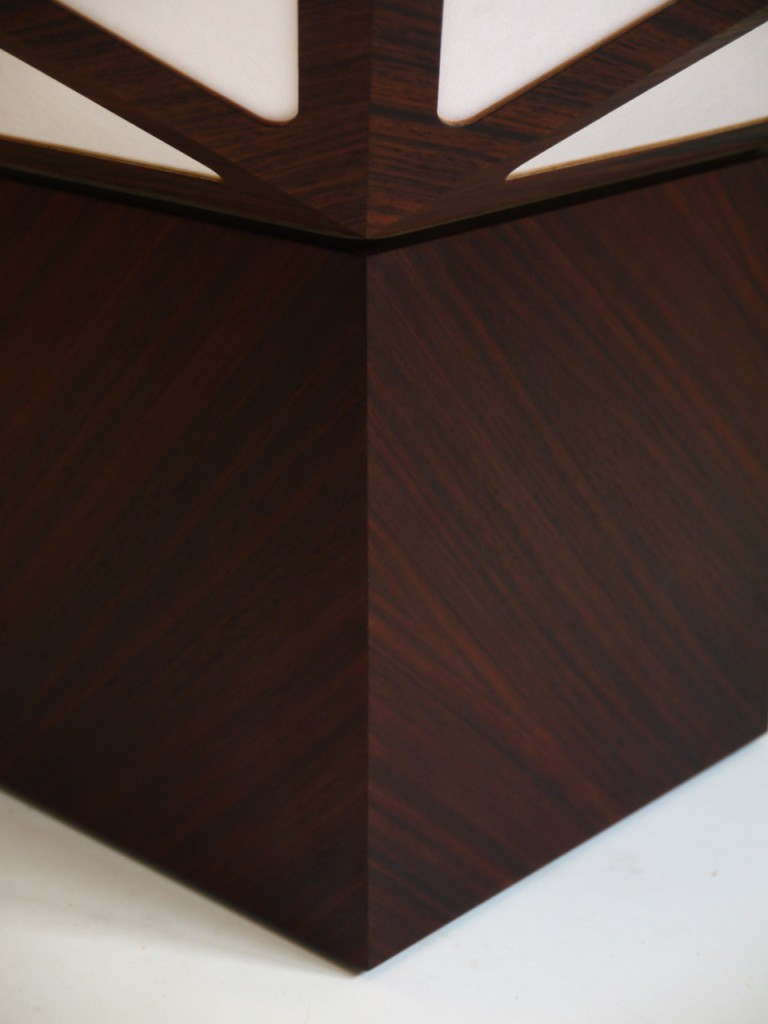 2015 Oregon pine, Cocobolo Base, Shoji paper 55 x 55 x 71(h) (with base) Limited editions of 8 + 2 AP  Handmade by the artist