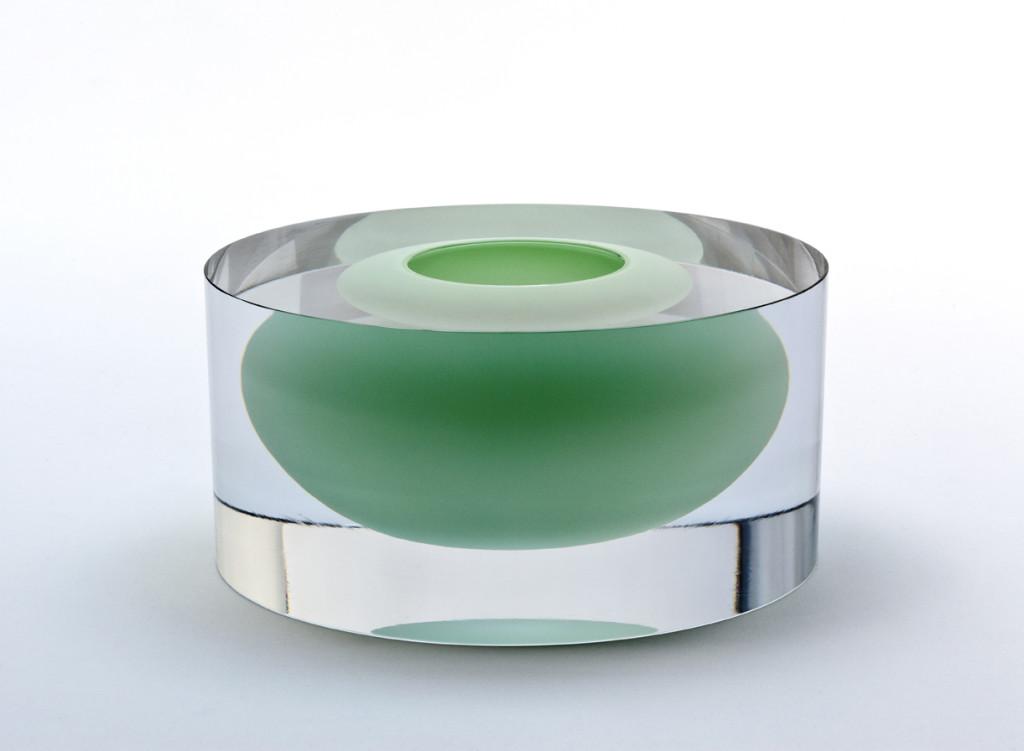 2013 Mouthblown. Handcut and Polished glass. D 22,5 cm / H 12 cm Unique piece