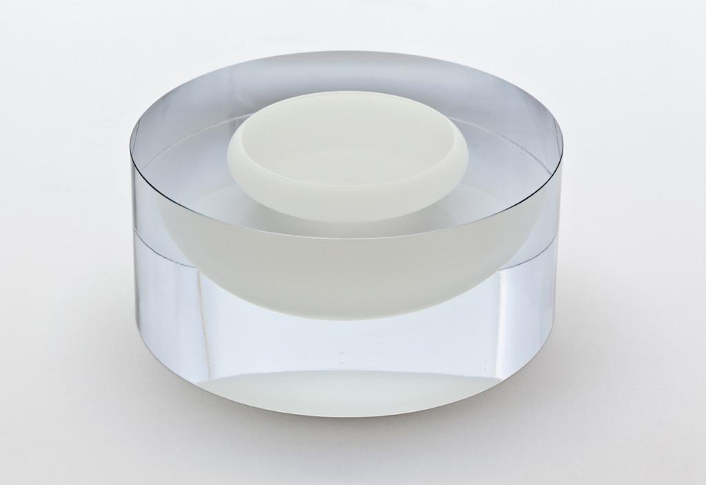 2014 Mouthblown. Handcut and Polished glass. D 30,5 cm / H 11 cm Serie of 5 unique pieces