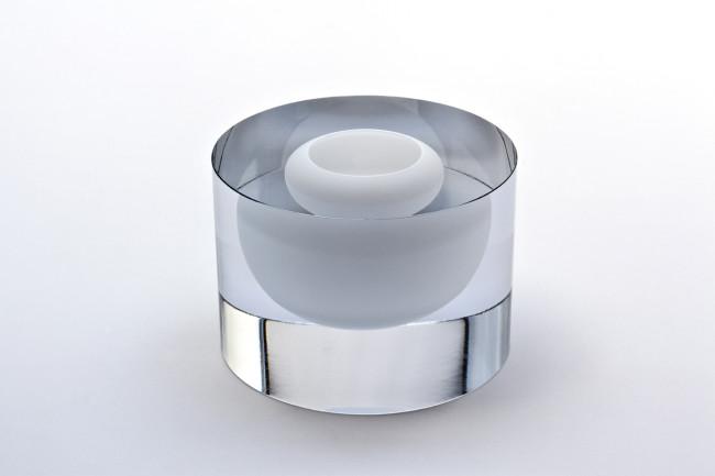 2013 Hand blown solid glass D 20 cm / H 15 cm Serie of 5 unique pieces