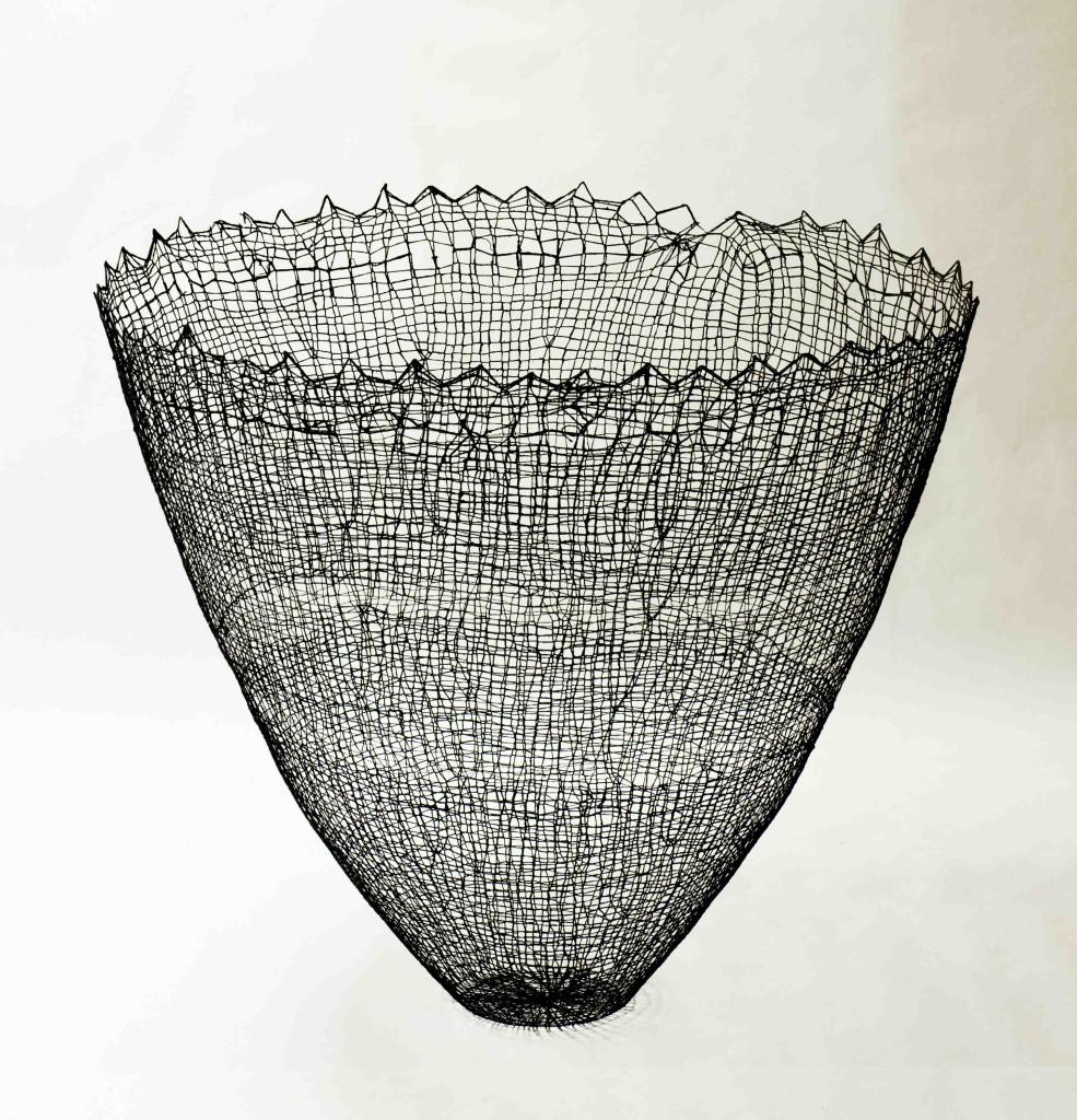 2015 85 (h) x 95 (d) cm Linen and cotton threads, pigment, epoxy Unique piece