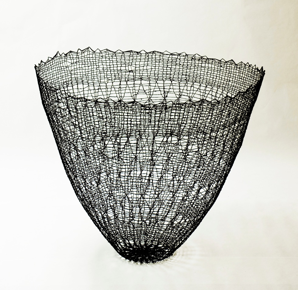 2015 80 (h) x 95 (d) cm Linen and cotton threads, pigment, epoxy Unique piece