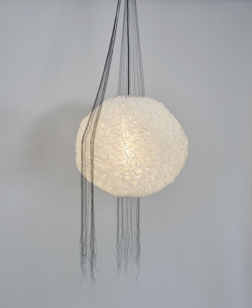 2015 Sound absorbing pendant Textile, polyester threads. Diameter 80 cm / height adjustable limited edition of 12