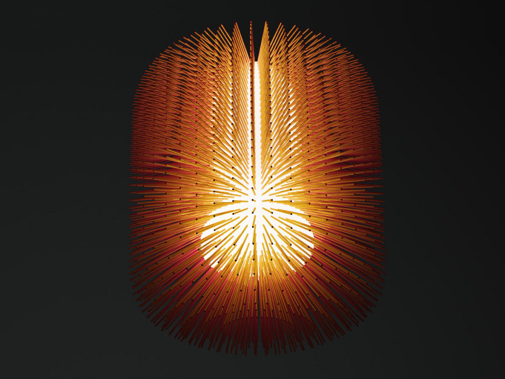 2015 (2006) Copper, 3D printed resin, LED 70 x 60 x 60 Limited edition of 8 + 2 prototypes