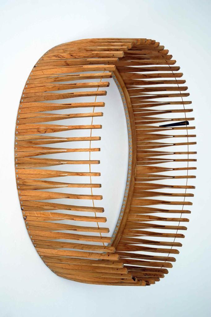 2013 Oak, leash 76 x 60 x 30 cm Unique piece