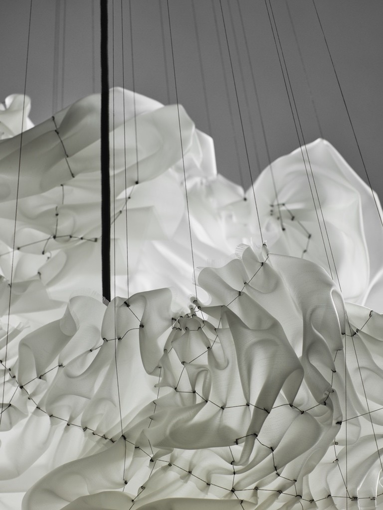 Detail 2016 Textile (PVDF), polyester thread (PFTE) 85 x 85 x 80 cm Unique piece