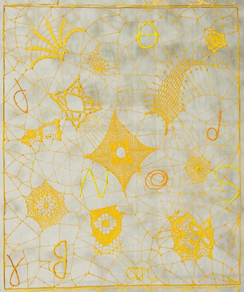 2016 200 x 180 cm (78,74 x 70,85 in) Linen thread laces, crochet and macrame Unique piece