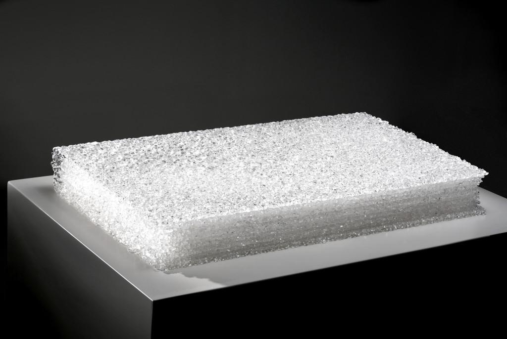 2016 Hand blown Glass 44 x 26,5 x 6 cm  Unique Piece