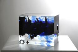 2016 Hand blown Glass 24,5 x 19,5 x 19,5 cm  Unique Piece