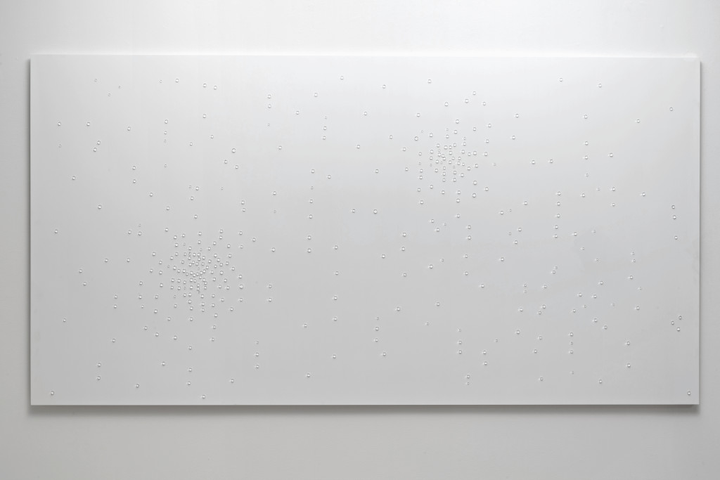 2016 Corian, Murano Glass 100 x 5 x 250 cm  Unique Piece