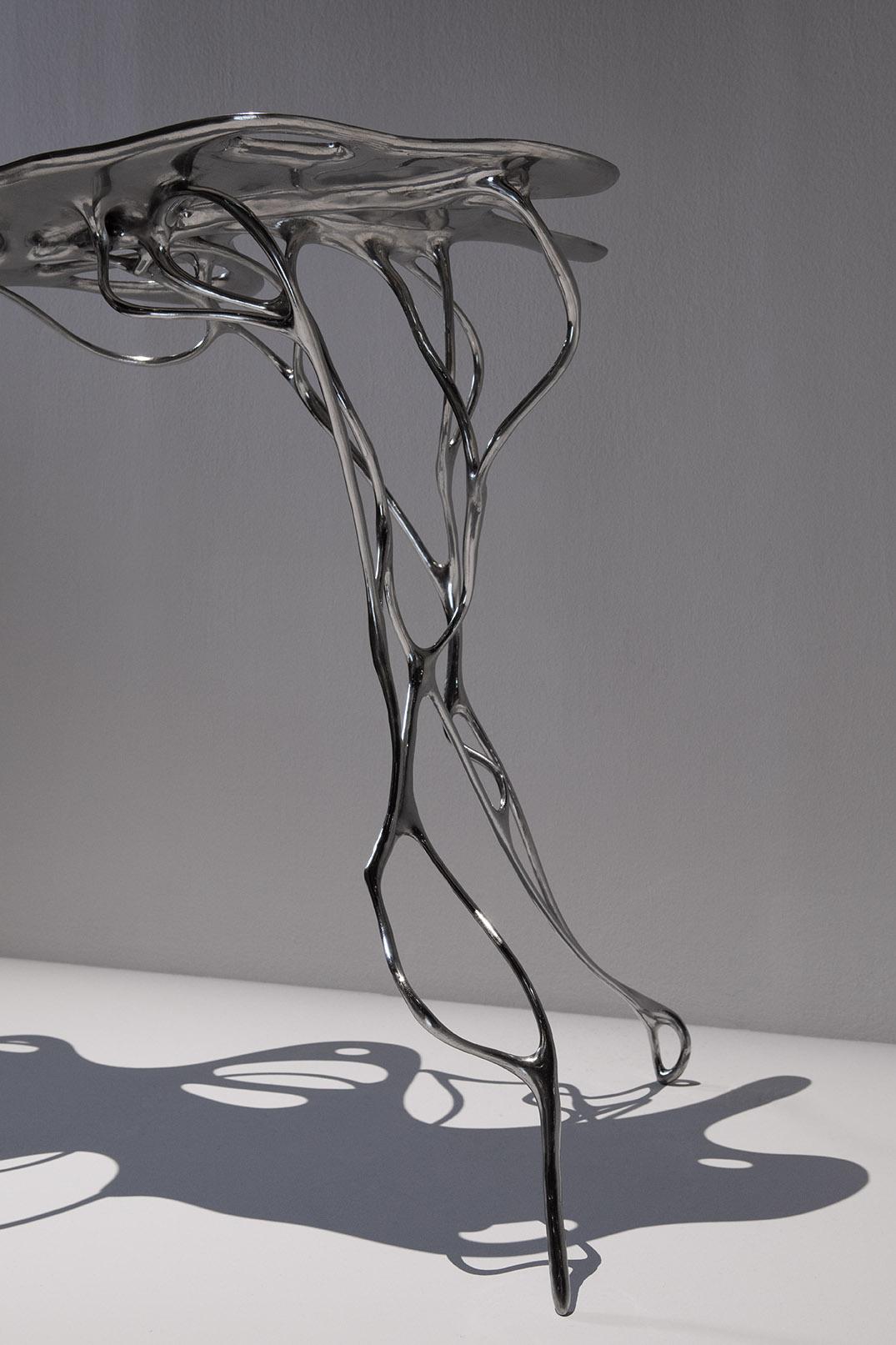 Maria wettergren mw galerie growth table titanium for Table titanium quadra 6
