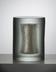 2016 Hand blown Glass, Silver 23 x 31 x 31 cm  Unique piece