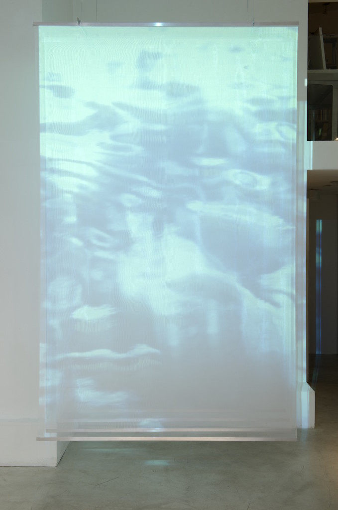2016 Video projection, textile, metal 240 x 150 x 60 cm Limited edition of 5