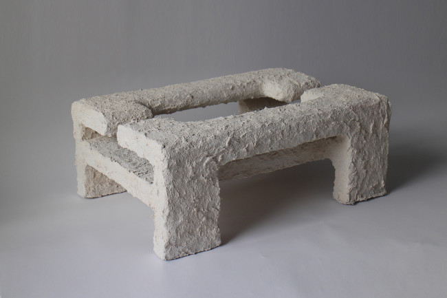 2017 Acrylic, fiber concrete, pigments from chalk and marble, polystyrene, steel L76 x W55 x H30 cm  Unique piece
