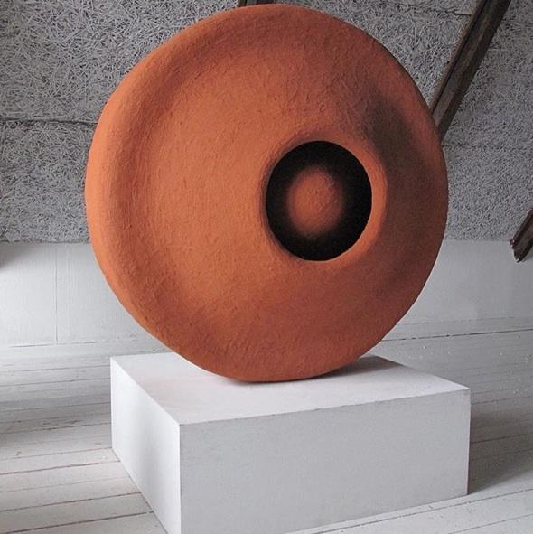 2016 Acrylic, fiber concrete, polystyrene, pigments from crushed bricks 43,2 x 99 x 99 cm Unique piece