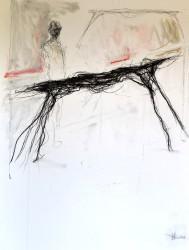 2011 Pencil, charcoal & gouache on paper 89 cm x 59 cm Unique
