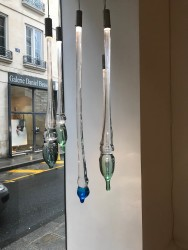 Hand blown glass, LED, metal Various dimensions (68,5 – 167 cm) Unique pieces