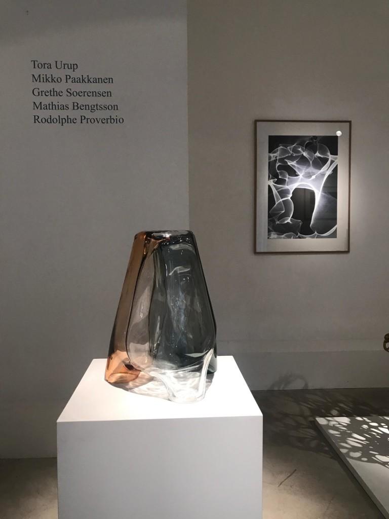 Hand blown clear glass H 50 cm / D 35 cm Liquid exhibition view