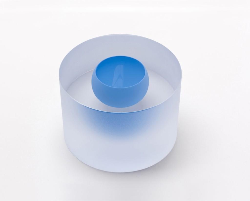 Mouthblown. Handcut and matbrushed glass. H 9 / D 17 cm Unique piece